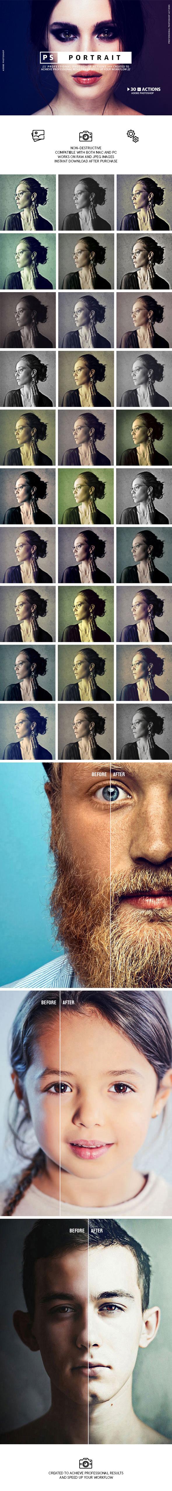 Portrait - Photoshop Actions - Photo Effects Actions