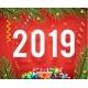 New Year 2019 Symbol Icon Confetti Ribbons