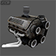 "Engine "" Low Poly "" Full details - 3DOcean Item for Sale"
