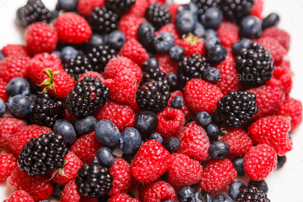 Berry texture close up. Top view flat lay. - Stock Photo - Images