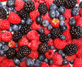 Berry texture. Top view flat lay. - PhotoDune Item for Sale