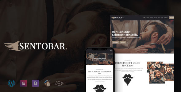 Sentobar - Barber & Hair Salon WordPress Theme