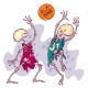 Halloween Card With Couple of Dead Basketball Players - GraphicRiver Item for Sale
