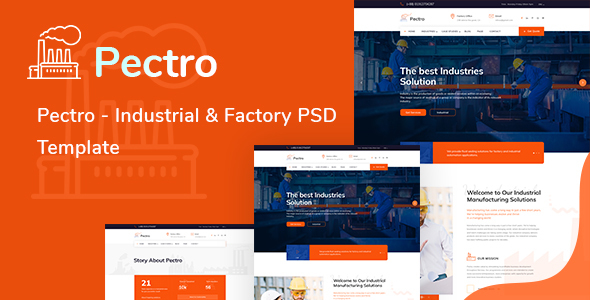Pectro  - Industrial  & Factory PSD Template - Corporate PSD Templates