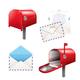 Realistic Postal Elements Set - GraphicRiver Item for Sale
