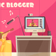 Musical Video Blog Background - GraphicRiver Item for Sale