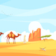 Camel Train Desert Composition - GraphicRiver Item for Sale