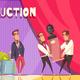 Auction Show Horizontal Background