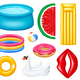 Realistic Inflatable Pools Accessories Set