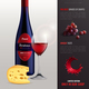 Wine Realistic Poster