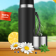 Vacuum Flask Landscape Realistic - GraphicRiver Item for Sale