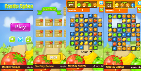 Construct 2 Match 3 Game + Admob - CodeCanyon Item for Sale