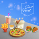 Fast Food Cartoon Illustration - GraphicRiver Item for Sale