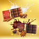 Milk and Dark Chocolate Compositions - GraphicRiver Item for Sale