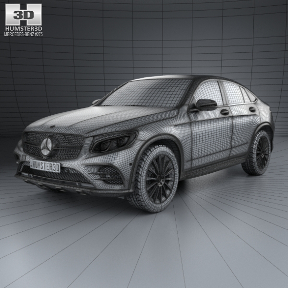 3d Model Mercedes Benz Glc Class C253 Coupe Amg Line 2016: Mercedes-Benz GLC-Class (C253) Coupe AMG Line 2016 By