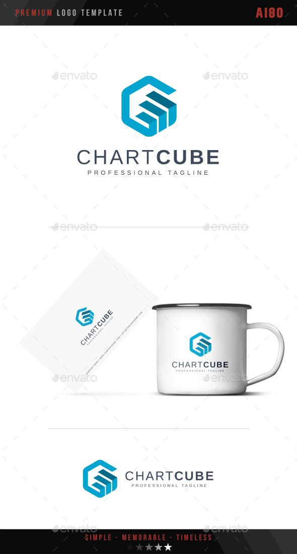 Chart Cube Logo - Abstract Logo Templates