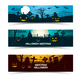 Halloween Greetings Banners Set - GraphicRiver Item for Sale