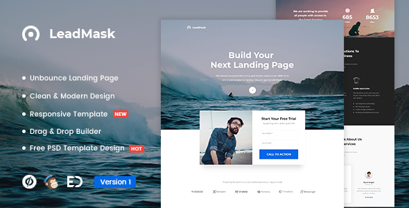 LeadMask - Services Unbounce Landing Page Template - Unbounce Landing Pages Marketing
