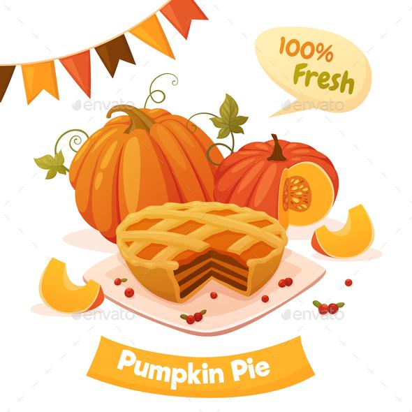 Pumpkin Pie Card - Food Objects