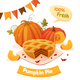 Pumpkin Pie Card - GraphicRiver Item for Sale