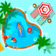 Swimming Pool Top View Composition - GraphicRiver Item for Sale