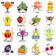 Fruits Cartoon Set - GraphicRiver Item for Sale