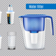 Water Filters Realistic Transparent - GraphicRiver Item for Sale