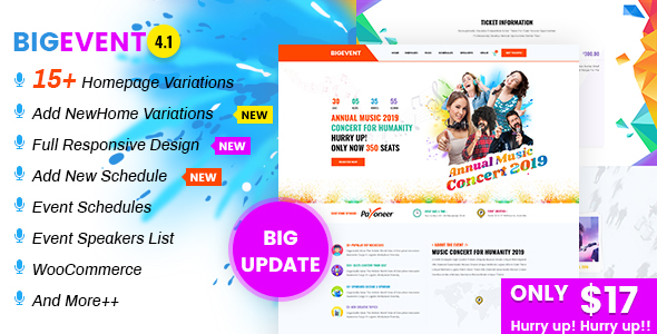 BigEvent - Event, Conference & Meetup HTML Template - Events Entertainment
