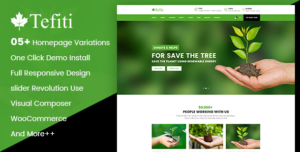 Tefiti- Environment & Ecology WordPress Theme - Environmental Nonprofit