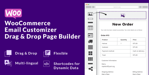 WooCommerce Email Customizer with Drag and Drop Email Builder - CodeCanyon Item for Sale