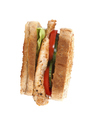 Sandwich with bacon and vegetables on white background - PhotoDune Item for Sale