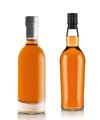 Full whiskey bottles isolated on white background - PhotoDune Item for Sale
