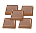 Dark chocolate bars stack isolated on a white background - PhotoDune Item for Sale