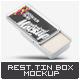 Rectangular Tin Box Mock-Up