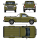 Green Pickup Truck - GraphicRiver Item for Sale