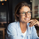 Smiling woman wearing spectacles - PhotoDune Item for Sale