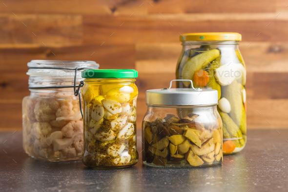 Pickled vegetable in jar. - Stock Photo - Images