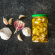 Marinated garlic. Pickled garlic. - PhotoDune Item for Sale
