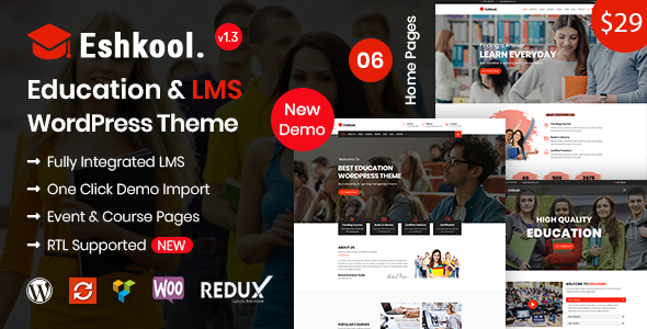 Eshkool Education - Education WordPress Theme
