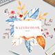Watercolor  Floral Frame - Flora