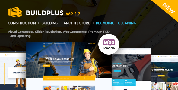 Construction WordPress | Build+ Construction - Business Corporate