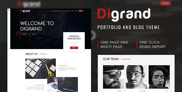 Digrand - Portfolio And Blog Theme - Portfolio Creative
