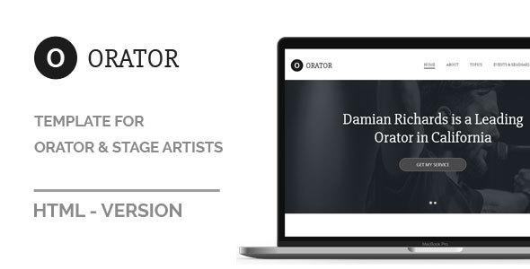 Orator - HTML Template