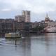 An Empty Ferry Boat Moves on Schedule Crossing the River in Savannah - PhotoDune Item for Sale