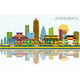 Zhengzhou China City Skyline with Color Buildings - GraphicRiver Item for Sale