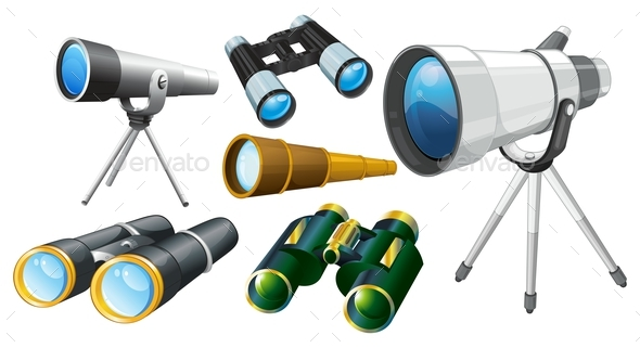 Different Designs of Telescopes - Man-made Objects Objects