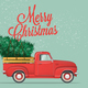 Merry Christmas and Happy New Year Postcard - GraphicRiver Item for Sale