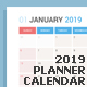 Calendar 2019 Planner Design - GraphicRiver Item for Sale