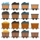 Mining Carts Loaded With Stone and Gold - GraphicRiver Item for Sale