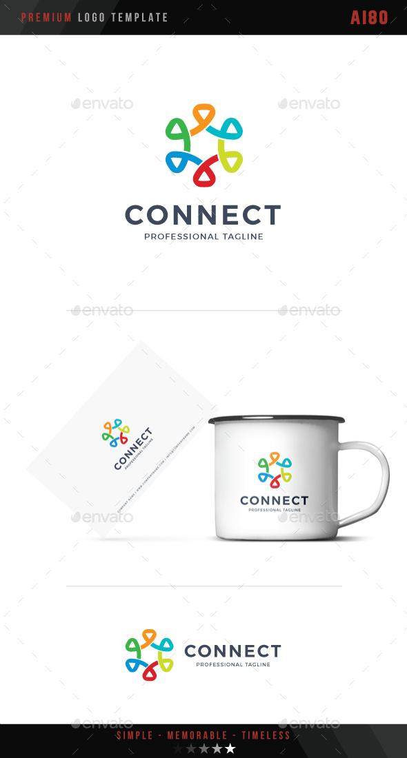 Connect Logo - Abstract Logo Templates